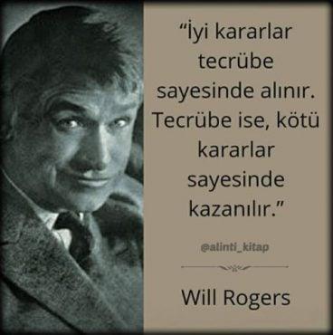 kitap alıntıları, kitap sözleri, will rogers