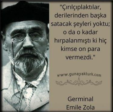 kitap alıntıları, kitap sözleri, Germinal / Emile Zola