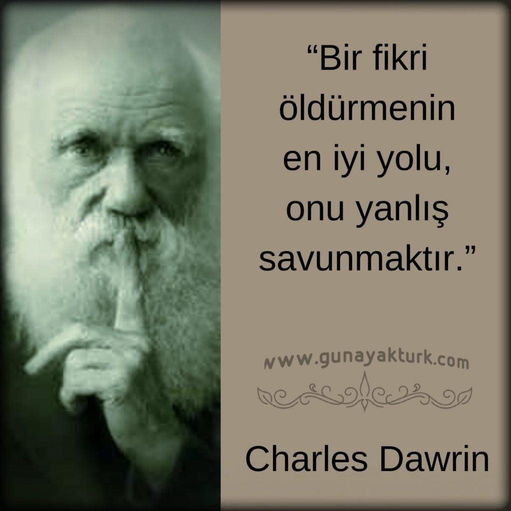 charles darwin, kitap alıntıları, kitap sözleri, günay aktürk,