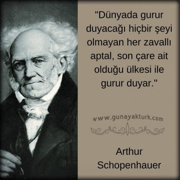 schopenhauer, kitap alıntıları, kitap sözleri, günay aktürk,